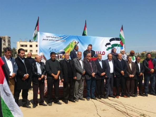 الهيئة الوطنية تدعو الرئيس عباس لزيارة غزة وعقد الإطار القيادي