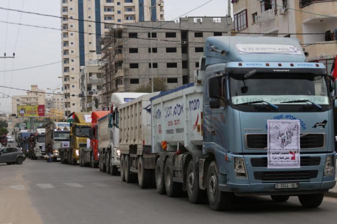 مسيرات العودة: مسيرة شاحنات الاثنين المقبل رفضا للحصار