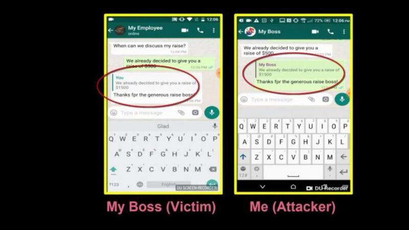 ثغرة في WhatsApp تتيح تزوير الرسائل المرسلة