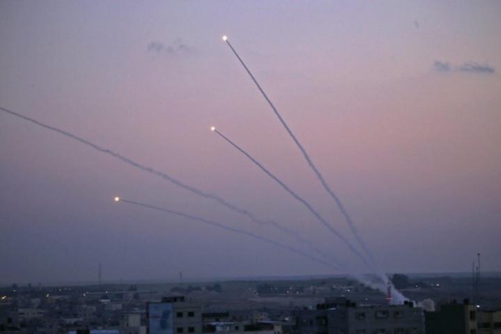 إطلاق صواريخ من غزة على مستوطنات غلاف غزة