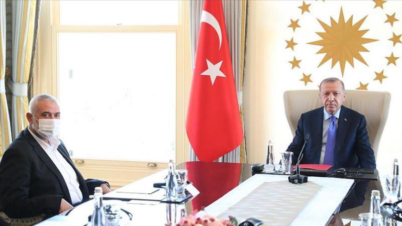 أردوغان يستقبل هنية في إسطنبول