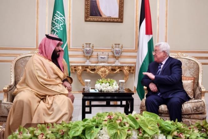 """تفاصيل """"خريطة فلسطين"""" التي عرضها بن سلمان على الرئيس أبو مازن"""