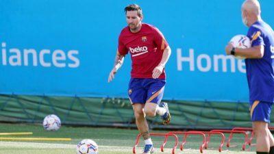 كواليس أول اجتماع بين ميسي ومدرب برشلونة الجديد