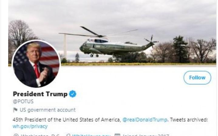 """إدارة """"تويتر"""" تتخذ قرارًا جديدًا بحق ترامب (صورة)"""