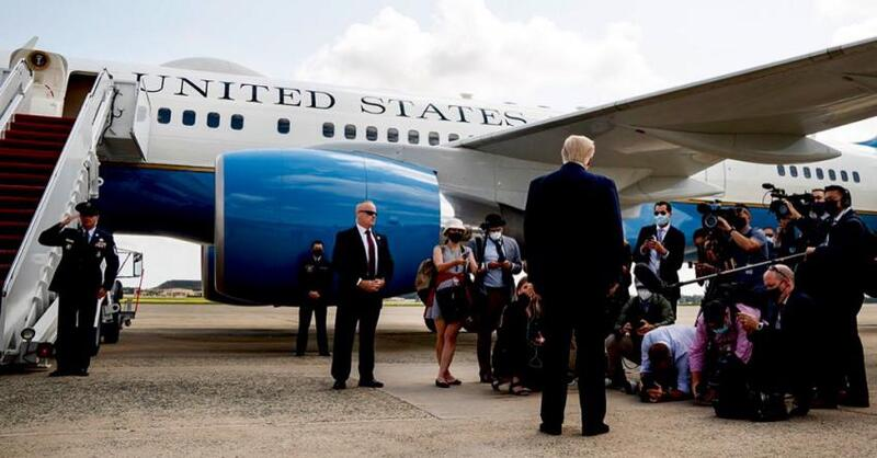 ترامب في أول تصريح صحفي بعد مغادرة البيت الأبيض: