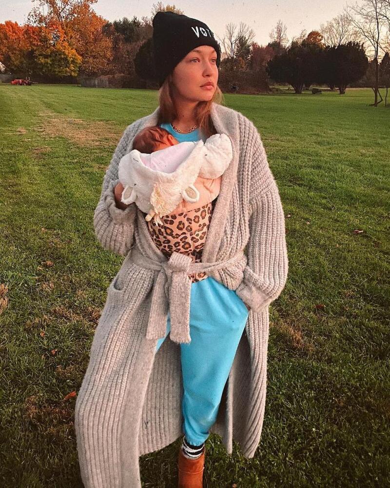عارضة الأزياء الأمريكية ذات الأصول الفلسطينية جيجي حديد