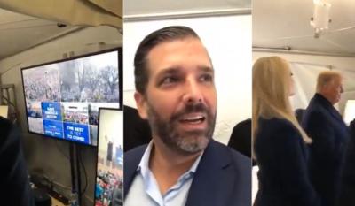 """فيديو مثير لـ """"ترامب"""" وعائلته تزامنا مع اقتحام مبنى الكابيتول الأمريكي"""