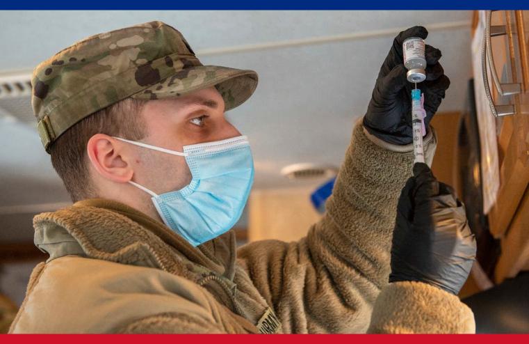 ثلث العسكريين الأميركيين يرفضون تلقي لقاح فيروس (كورونا)