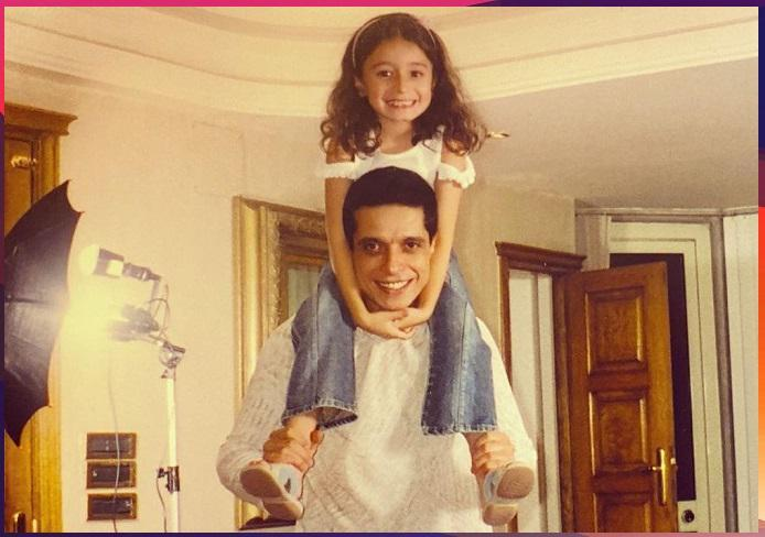 شاهد.. زينة عامر منيب تكشف عن صورة قديمة مع والدها الراحل في فترة طفولتها