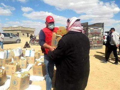 تقديم مساعدات غذائية لبلدتي الهول و الشدادي