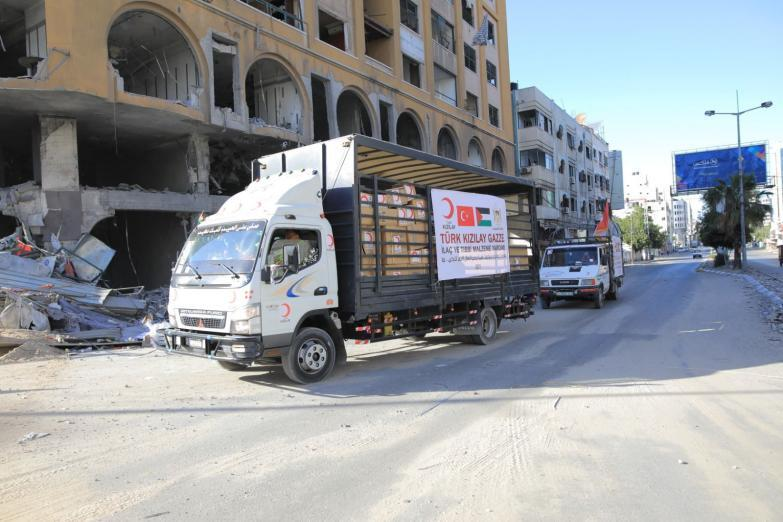 الهلال الأحمر التركي: مساعدات بـ12 مليون دولار لأهالي قطاع غزة