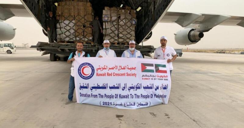 الكويت ترسل 40 طنا من المساعدات الغذائية والدوائية لقطاع غزة