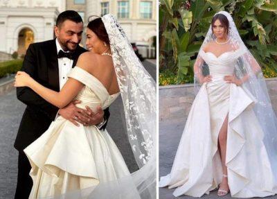 """شاهد.. هاجر أحمد بفستان زفاف كلاسيكي مستوحى من عصر """"ييه ييه"""""""