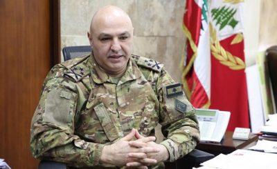 """قائد الجيش اللبناني يحذر من """"الفتنة"""" ويدعو للتأهب"""