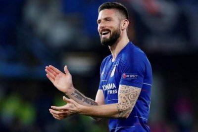 جيرو في ميلانو تحضيراً لتوقيع عقد انتقاله لميلان
