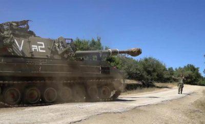 بالفيديو.. الجيش الإسرائيلي يحشد دباباته على حدود لبنان