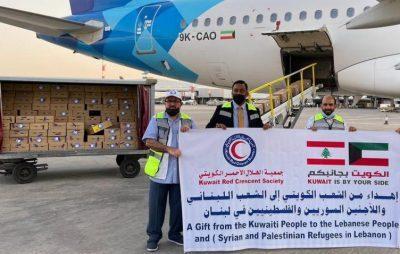 الهلال الأحمر: 8 طن من حليب الأطفال إلى لبنان ضمن مساعدات الكويت